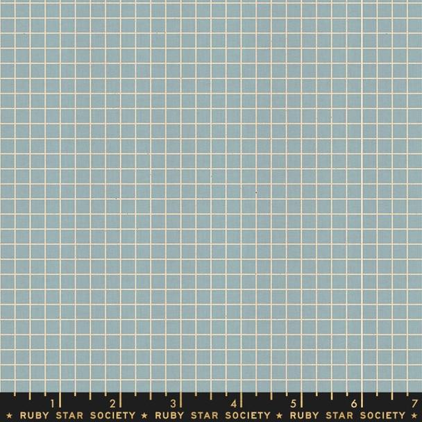 Soft blue grid quilt cotton fabrics design