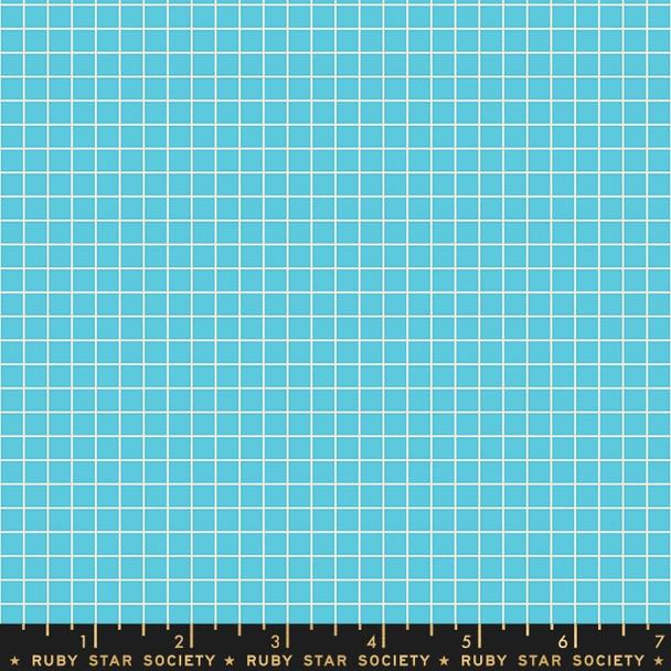 Pool blue grid quilt cotton fabrics design