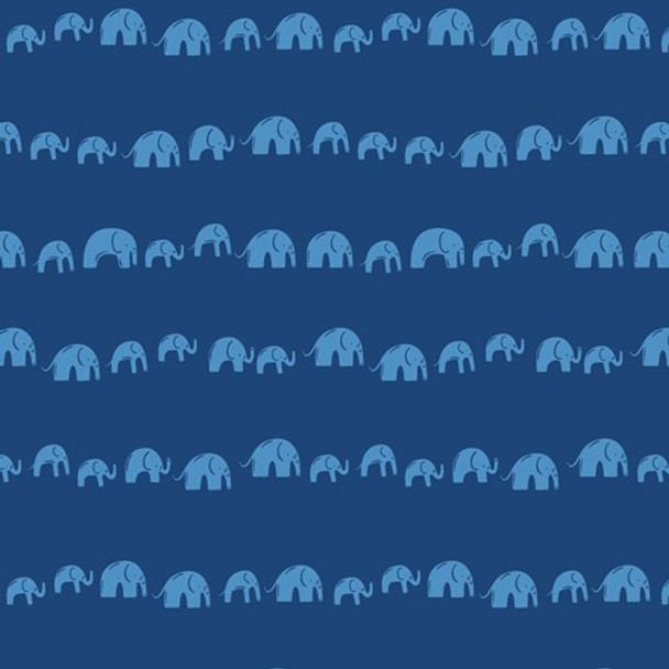 Blue Elephants Echo Electric fabrics design