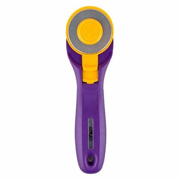 Purple Olfa Splash 45mm fabric rotary cutter