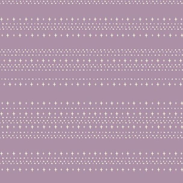 Purple stars aligned treat cotton fabrics design