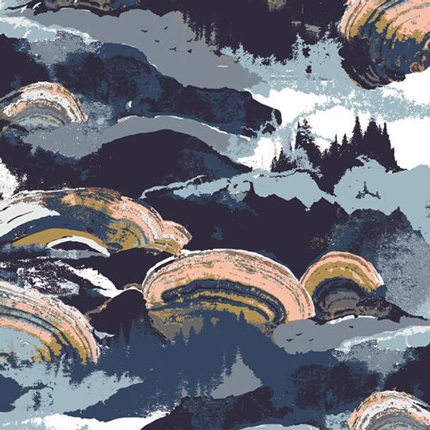 Earth tone cotton fabrics design