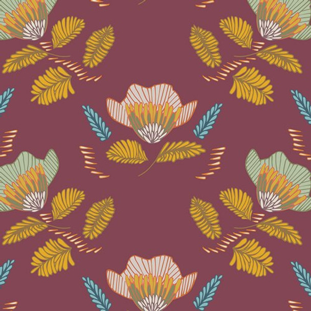Pressed Ablossom Auburn fall fabrics design