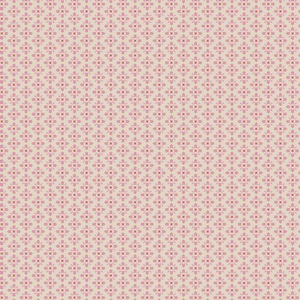 Tiny pink Royal Arcade fabrics design