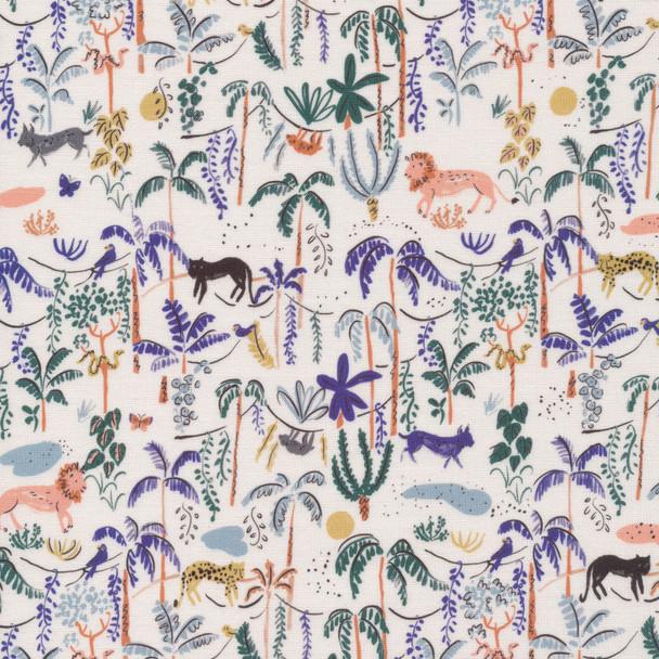 Jungle Forest fabric, Cloud 6 Fabrics Bountiful Forest organic cotton, QTR YD