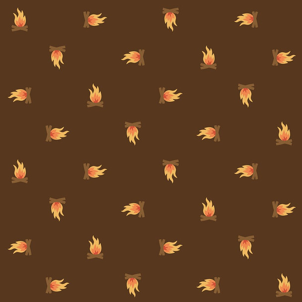Campfire brown camping Fabrics design