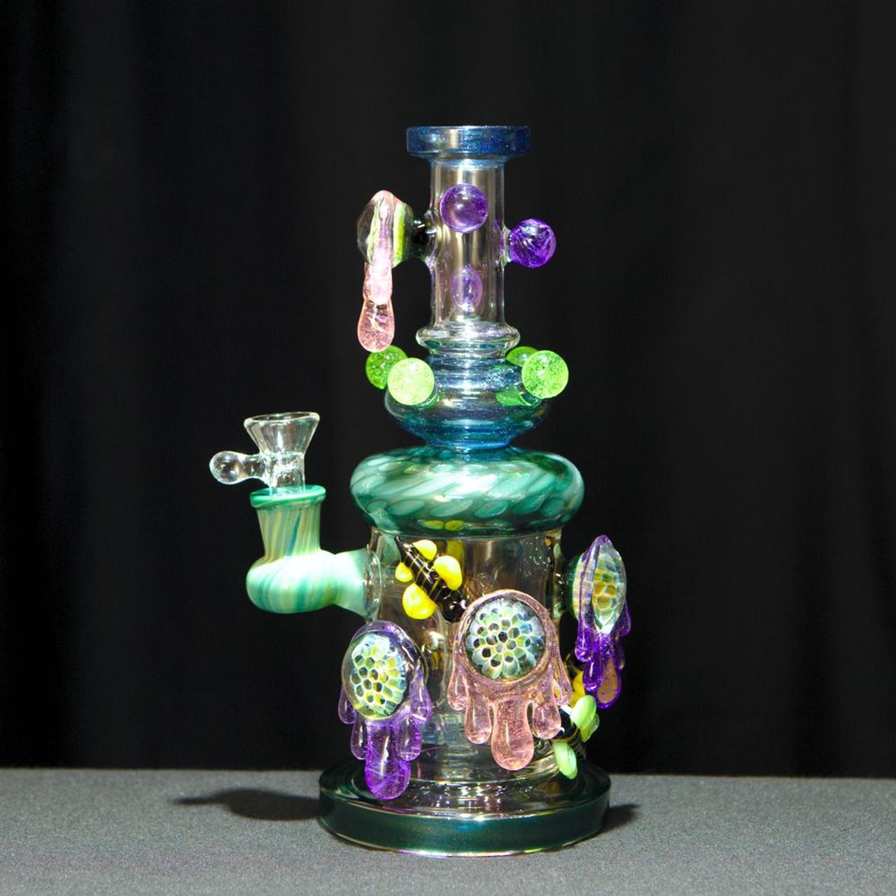 Opal Honeycomb Shower Head Perc Water Pipe By Tattoo Glass Ryo
