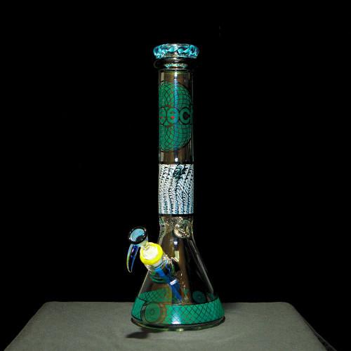 """Cheech 14"""" Geometric Swirl Beaker Water Pipe"""