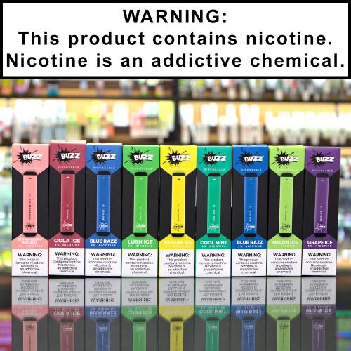Buzz Disposable Ecigs 5% Nicotine