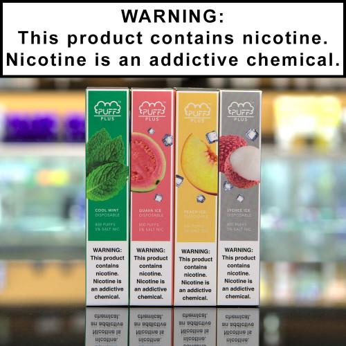 Puff Plus Disposable Ecigs 5% Nicotine