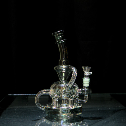 On Point Glass Medium Swiss Recycler Water Pipe