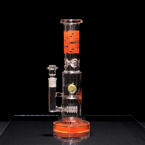 Torpedo Button Large Water Pipe by Arcatek Glass