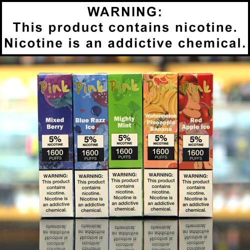 Pink Max Disposable Ecigs 5% Nicotine