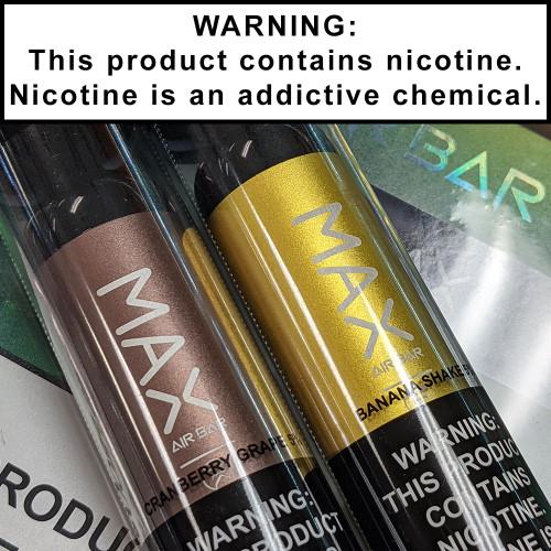 Air Bar Max Disposable Ecigs 5% Nicotine 2000 Puffs