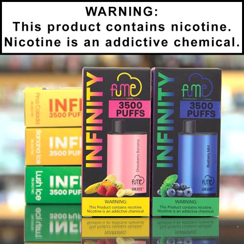 Fume Infinity 35000 Puff Disposable Ecigs 5% Nicotine