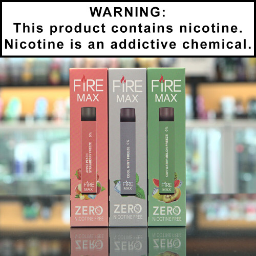 Fire Max Disposable Ecigs 0% Nicotine
