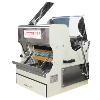 American Eagle AE-BS01 Heavy Duty Bread Slicer Front Load w/safety guard, 1/2 HP, loaf max length 15 3/4', 115/60Hz/1Ph Open