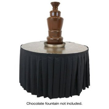"Buffet Enhancements Skirting for 48"" Chocolate Fountain Table"