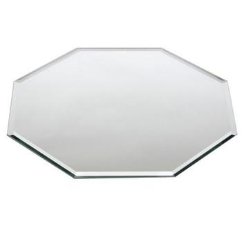 """Buffet Enhancements Centerpiece Beveled Glass Mirror, Octagonal, 14"""""""