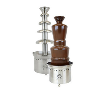 Buffet Enhancements Chocolate Fountain, SS, 4 Tier, 40 in., 220v 50hz