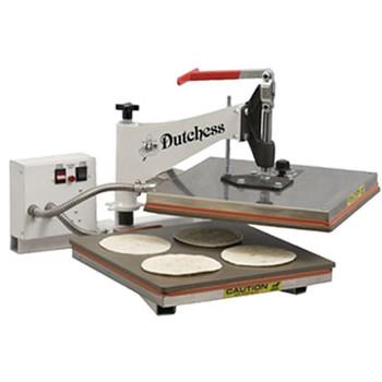 "Dutchess DUT/TXM-15 Manual Tortilla Press, 15"" Square Platen, Swing Away Design 220V"