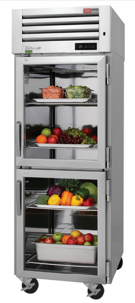 Turbo Air PRO-26-2R-G-N 2 Glass Half Doors Top Mount Refrigerator