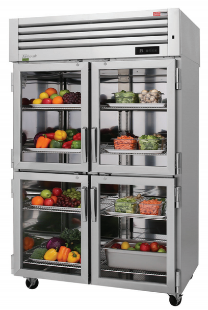 Turbo Air PRO-50-4R-G-N 4 Glass Half Doors Top Mount Refrigerator