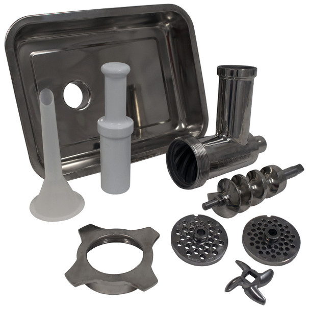 American Eagle AE-G22NH #22 Commercial Meat Grinder Head Kit Stainless Steel  Complete