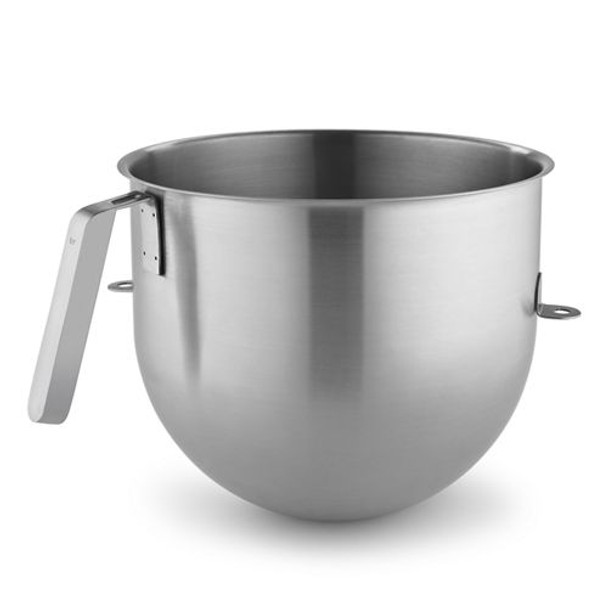 KitchenAid 8 Quart NSF Certified Polished Stainless Steel Bowl with J Hook Handle