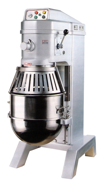 American Eagle AE-60N4A 60Qt Planetary Mixer with Safety Guard & Power Lift, 3HP, 4 speeds, 220V/1Ph/60Hz Closed