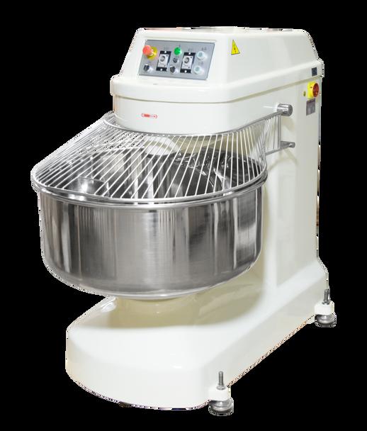 American Eagle AE-100K 250Qt Spiral Mixer, Capacity 220Lbs Flour, 352Lbs Dough, 12HP Agitator, 5HP Bowl, 220V/3Ph/60Hz Closed