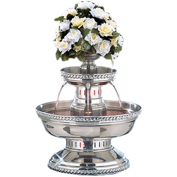 Buffet Enhancements Champagne Fountain, 5 Gal, SS, Silver Rope Trim