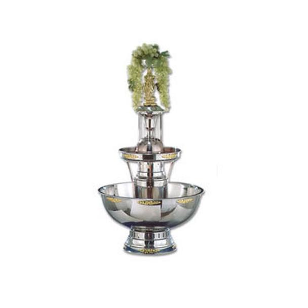 Buffet Enhancements Champagne Fountain, 7 Gal, SS, Gold Trim