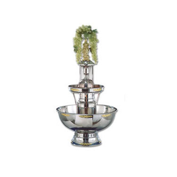 Buffet Enhancements Champagne Fountain, 7 Gal, SS, Silver Trim