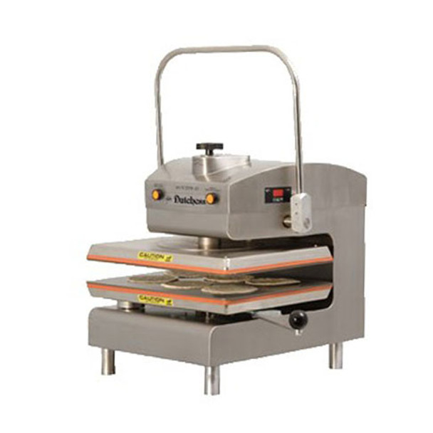 Dutchess DUT/TXM-SS Dual Heat Rectangular Platen, Manual Tortilla/Pizza Press 220V