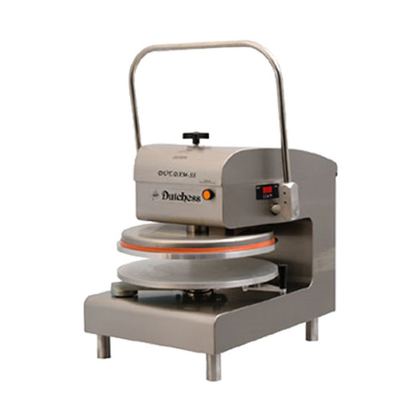 "Dutchess DUT/DXM-SS Top Heated 18"" Round Platen, Manual Pizza Press (Stainless Steel Finish) 120V"