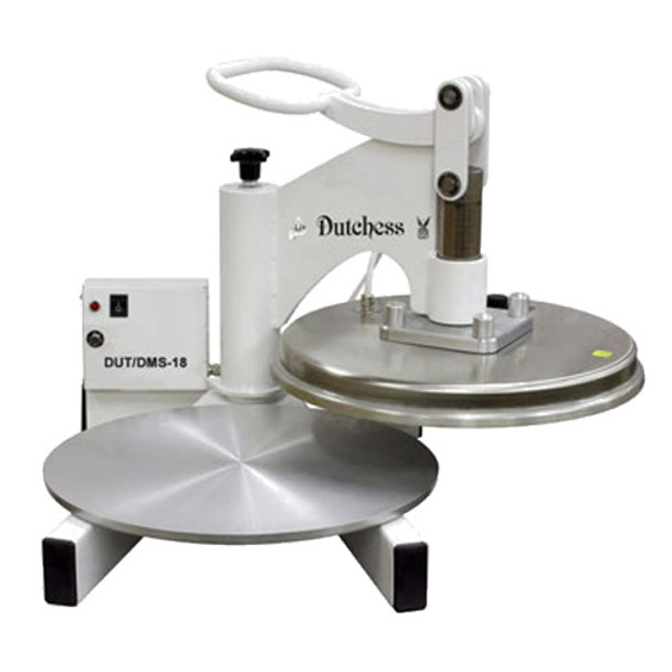 "Dutchess DUT/DMS-18 Top Heated 18"" Round Platen, Swing Away Design (White Powder Coat Finish) 120V"