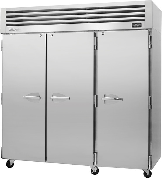 Turbo Air PRO-77R-N Three Section Reach-In Top Mount Solid Doors Refrigerator