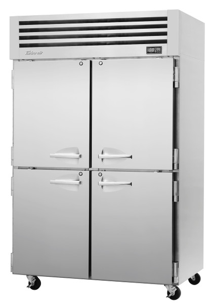 Turbo Air PRO-50-4R-N Two Section Reach-In Top Mount Solid Half-Doors Refrigerator
