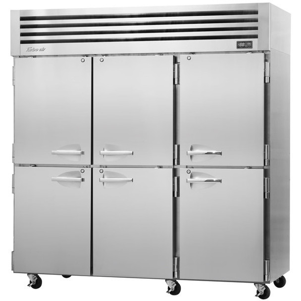 Turbo Air PRO-77-6R-N 6 Solid Half-Doors Top Mount Refrigerator