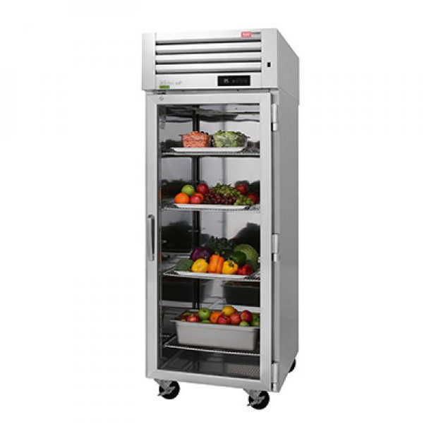 Turbo Air PRO-26R-G-N Single Section Reach-In Top Mount Glass Full Door Refrigerator