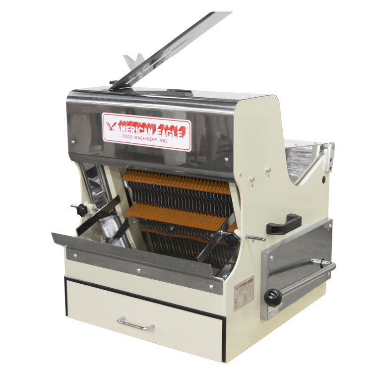 American Eagle AE-BS01 Heavy Duty Bread Slicer Front Load w/safety guard, 1/2 HP, loaf max length 15 3/4', 115/60Hz/1Ph