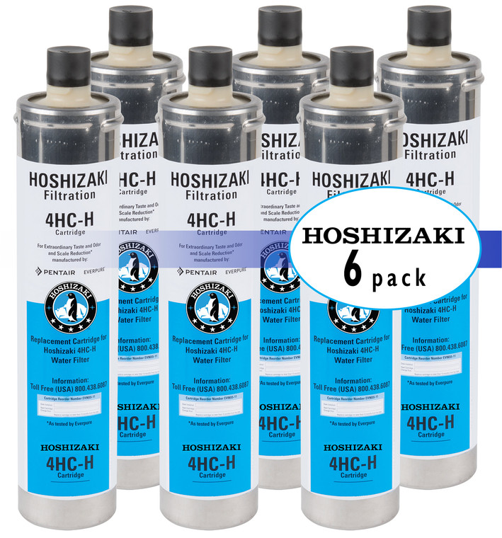 Hoshizaki H9655-06 Single/Twin/Triple Configuration Filtration System Water Filter Cartridge 6 Pack