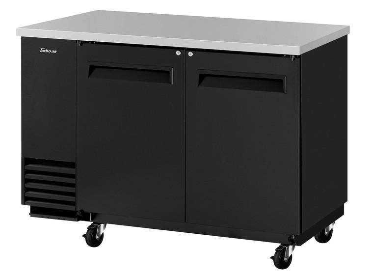 TBB-2SB-N6 Black Vinyl Solid Door Back bar