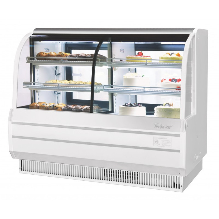 TCGB-72CO-W-N White bakery Case
