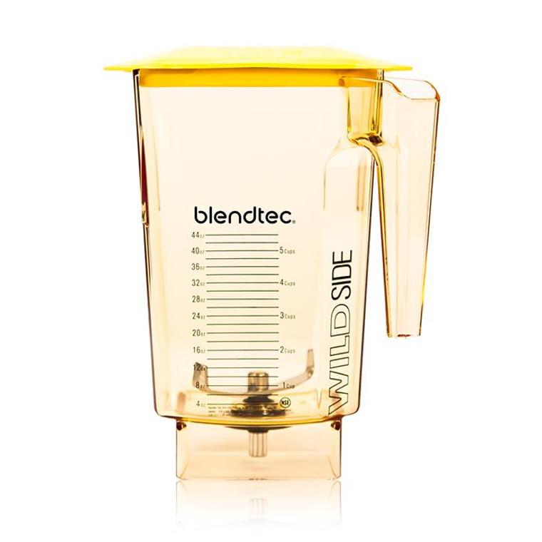 "Blendtec Yellow Wildside+ Blender Jar 4"" Wingtip Blade"