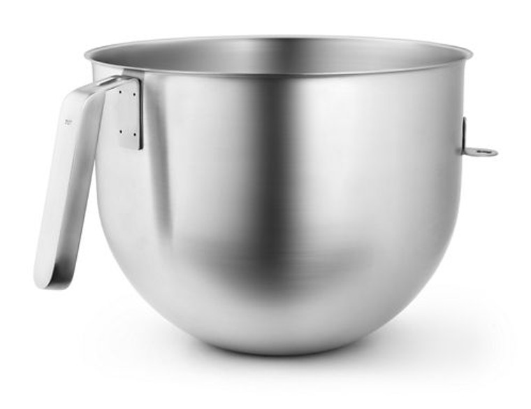 KitchenAid 7 Quart NSF Certified Polished Stainless Steel Bowl with J Hook Handle