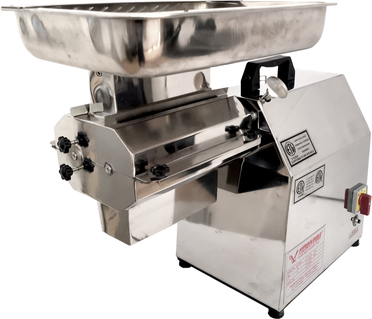 American Eagle AE-GMC22N 1.5HP Commercial Large Capacity Electric Meat Cutter Kit Stainless Steel