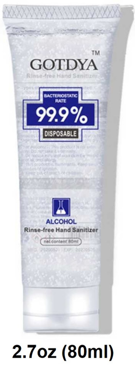 GOTDYA™ Hand Sanitizer 2.7 oz (80 ml) Travel Size 75% Alcohol