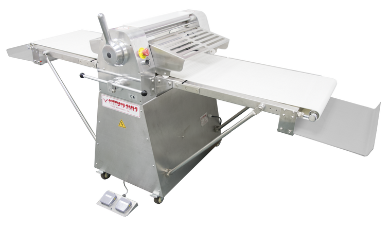 "American Eagle AE-DS65L-SS 1HP Stainless Steel Dough Sheeter Floor Type 25.5""W x 118""L, 220V/1Ph"